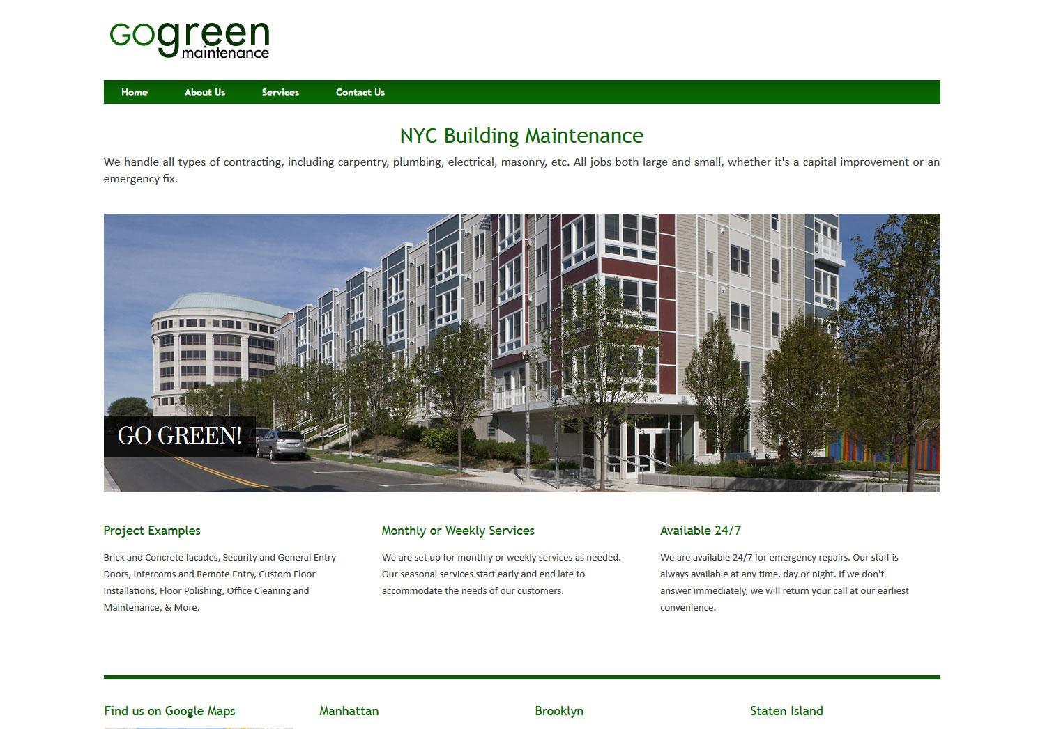 Go Green Maintenance