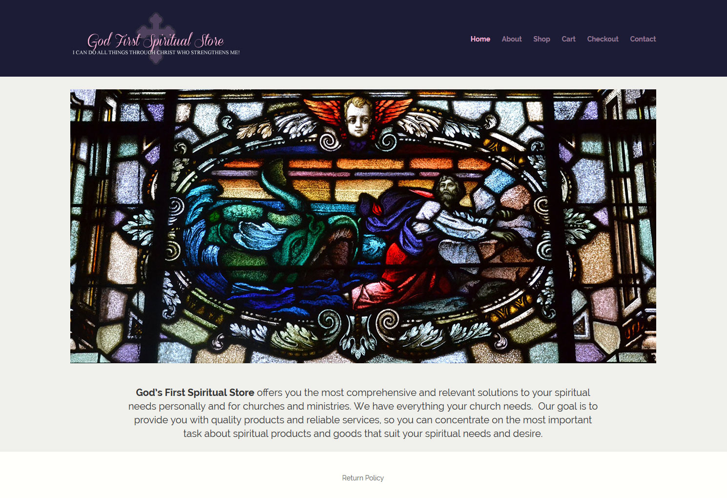 God First Spiritual Store website by Staten Island Web Designers NB Technologies
