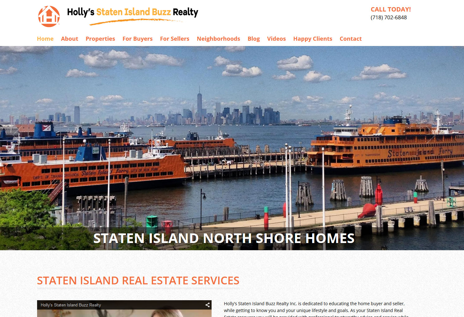 Holly's Staten Island Buzz Realty | Staten Island Web Design