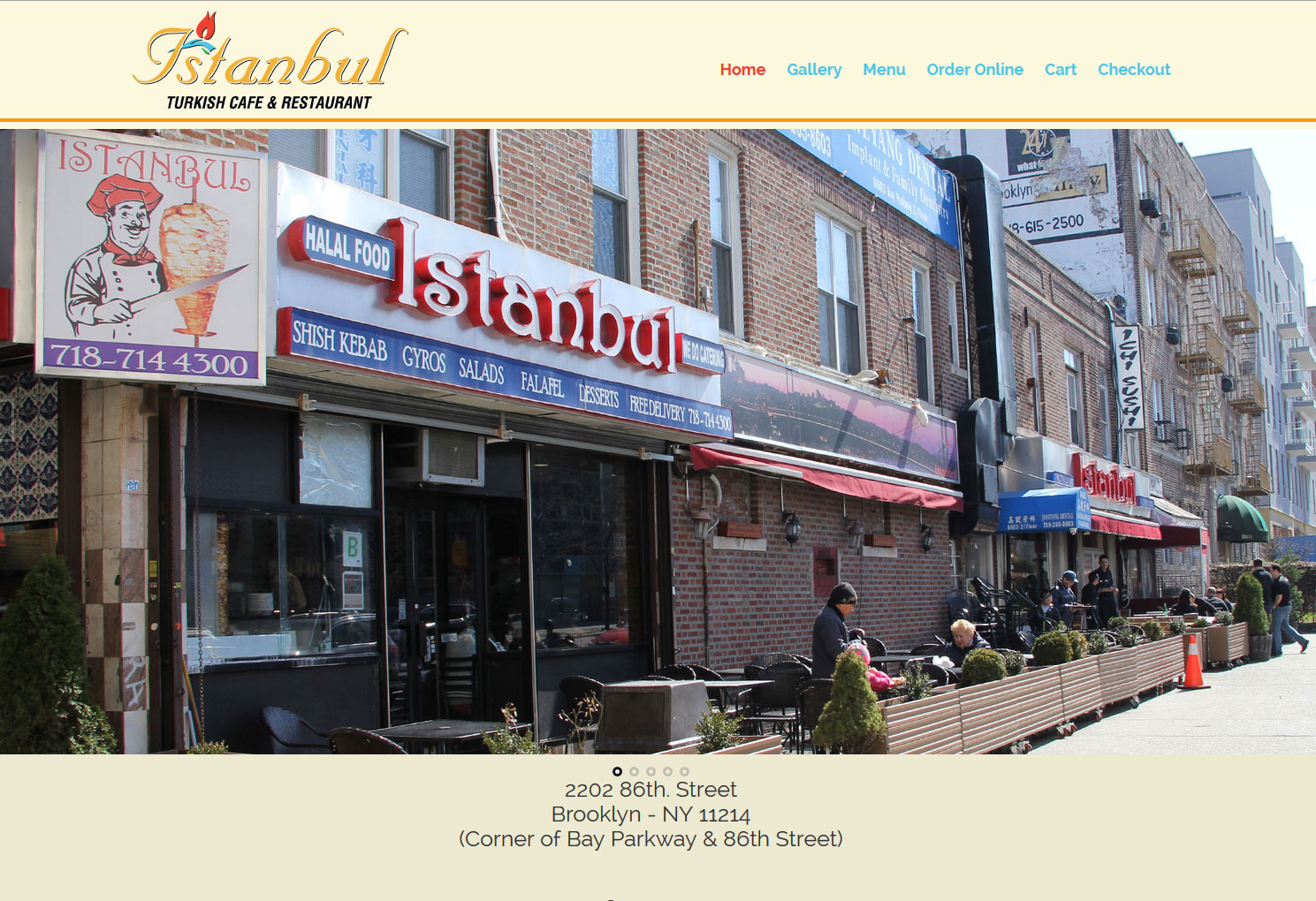 Istanbul Restaurant website by Staten Island Web Designers NB Technologies