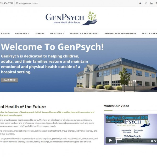 GenPsych, PC Website by NB Technologies