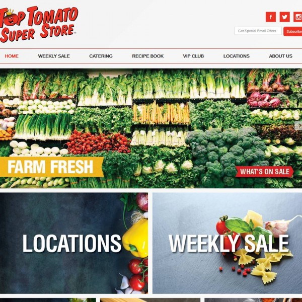 Top Tomato Superstore Website by NB Technologies