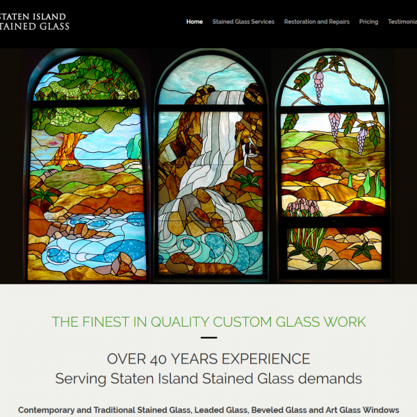 Staten Island Stained Glass Website Design by NB Technologies