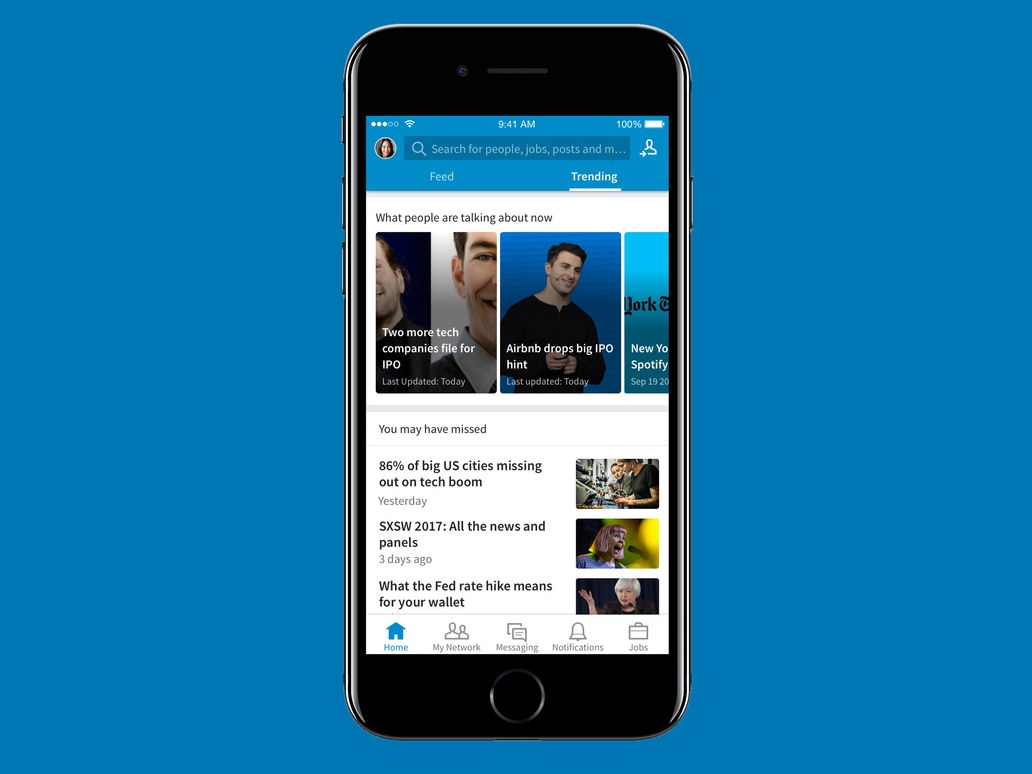 Reading Trending News Through Your Linkedin Account Is Now A Reality