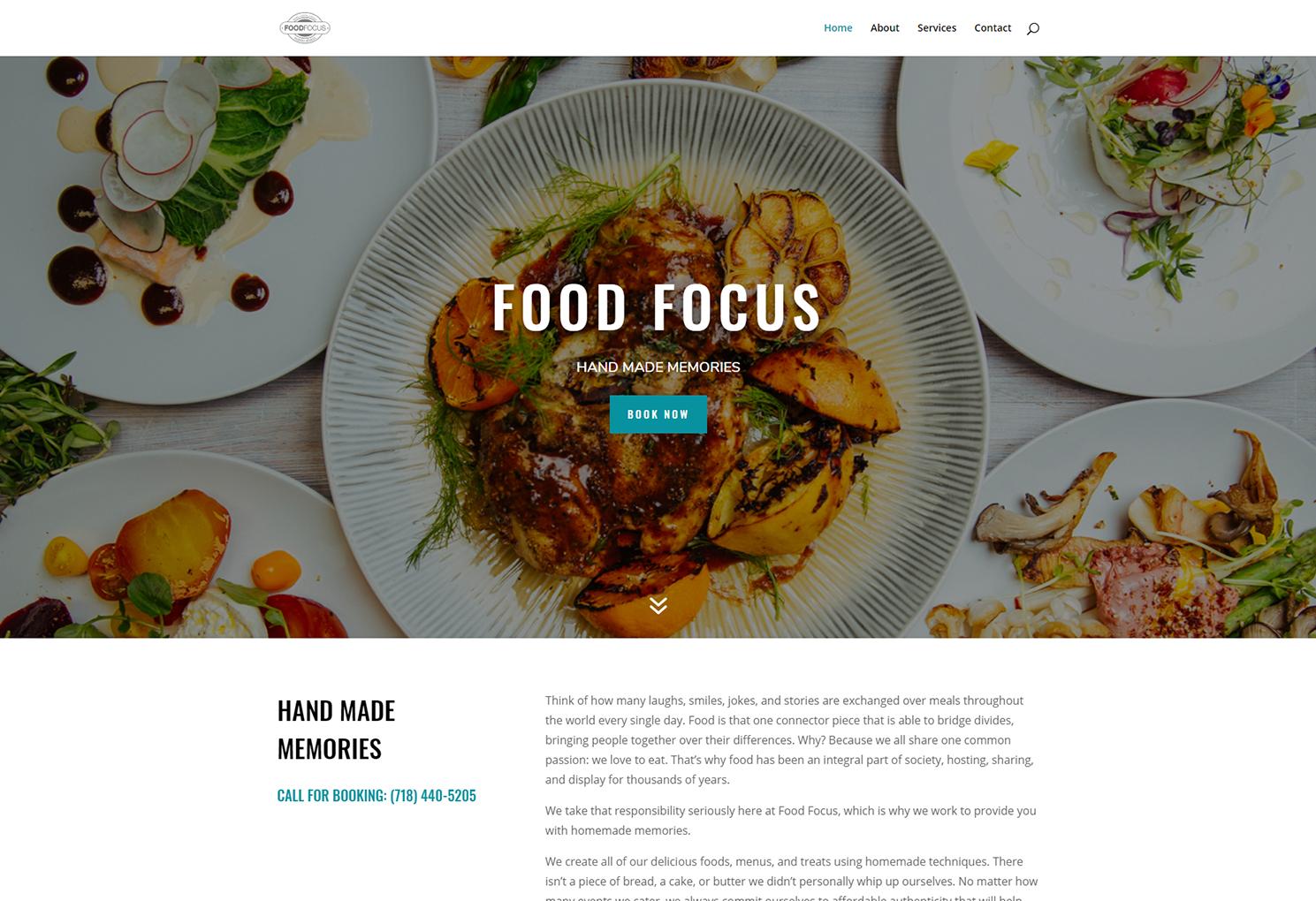NYC Web Design - NB Technologies The Food Focus Screenshot